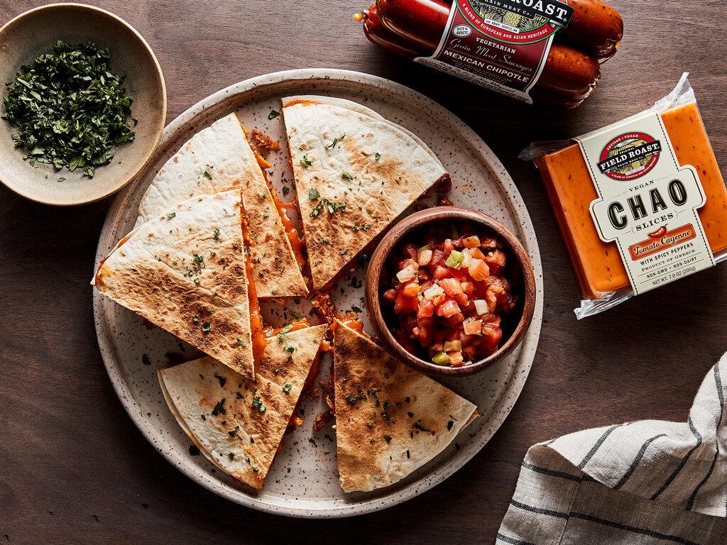 Chorizo-style Breakfast Quesadilla
