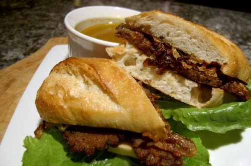 Image for Wild Mushroom French Dip with Crispy Caramelized Onions