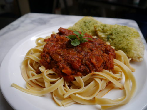 Linguine with Sausage Bolognese