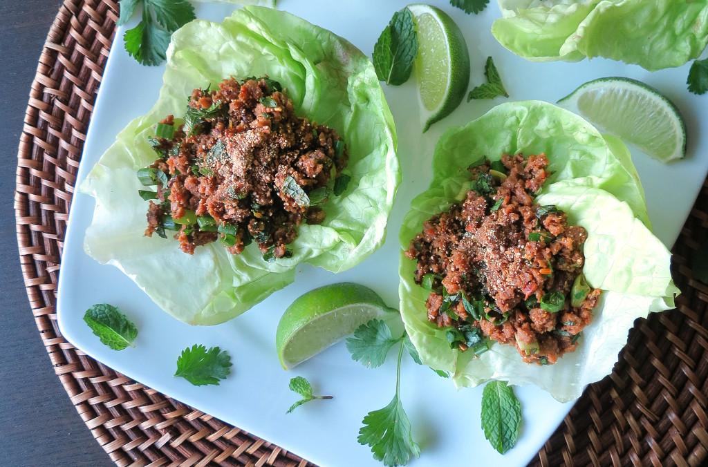 Larb (Laotian Minced Meat Lettuce Cups)