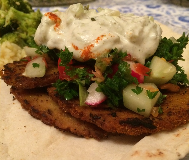 Field Roast Shawarma with Cashew Tzatziki