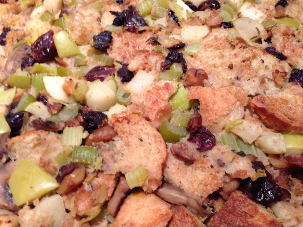 Stuffing with Apple, Dried Cherries & Herb Brown Butter