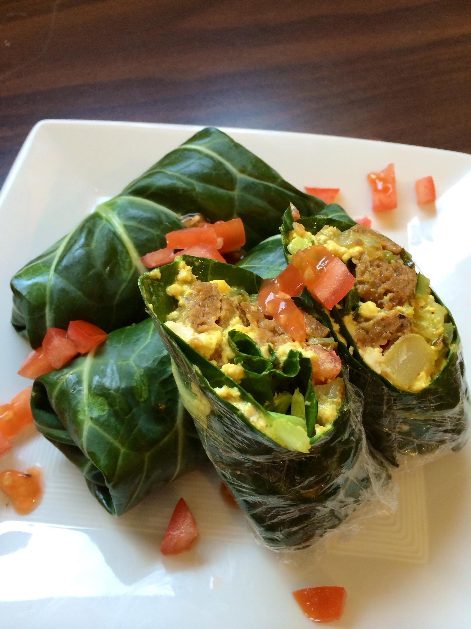 Green Machine Breakfast Burrito