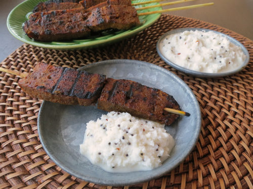 South Indian Kebabs with Coconut Chutney