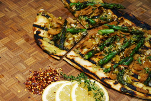 Image for Lentil Sage & Asparagus Grilled Pizza
