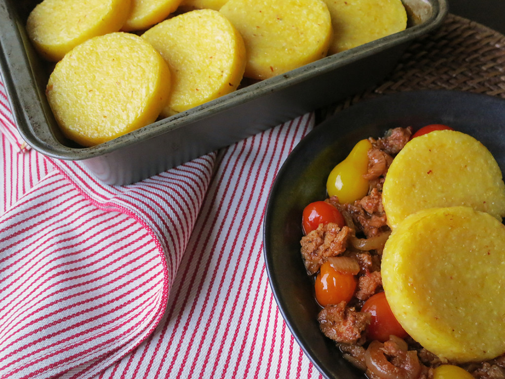 Savory Tomato & Sausage Cobbler