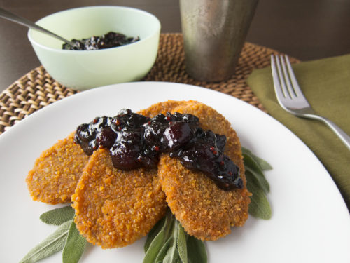 Image for Lentil-Crusted Cutlets with Cherry-Tamarind Chutney