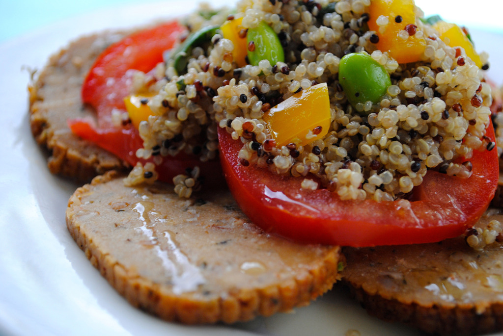 Warm Quinoa Salad Over Celebration Roast