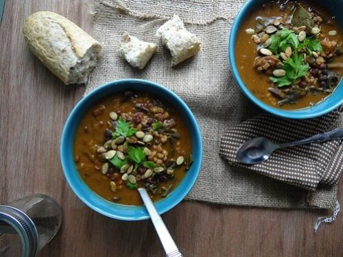 Pumpkin Farro Field Roast Stew