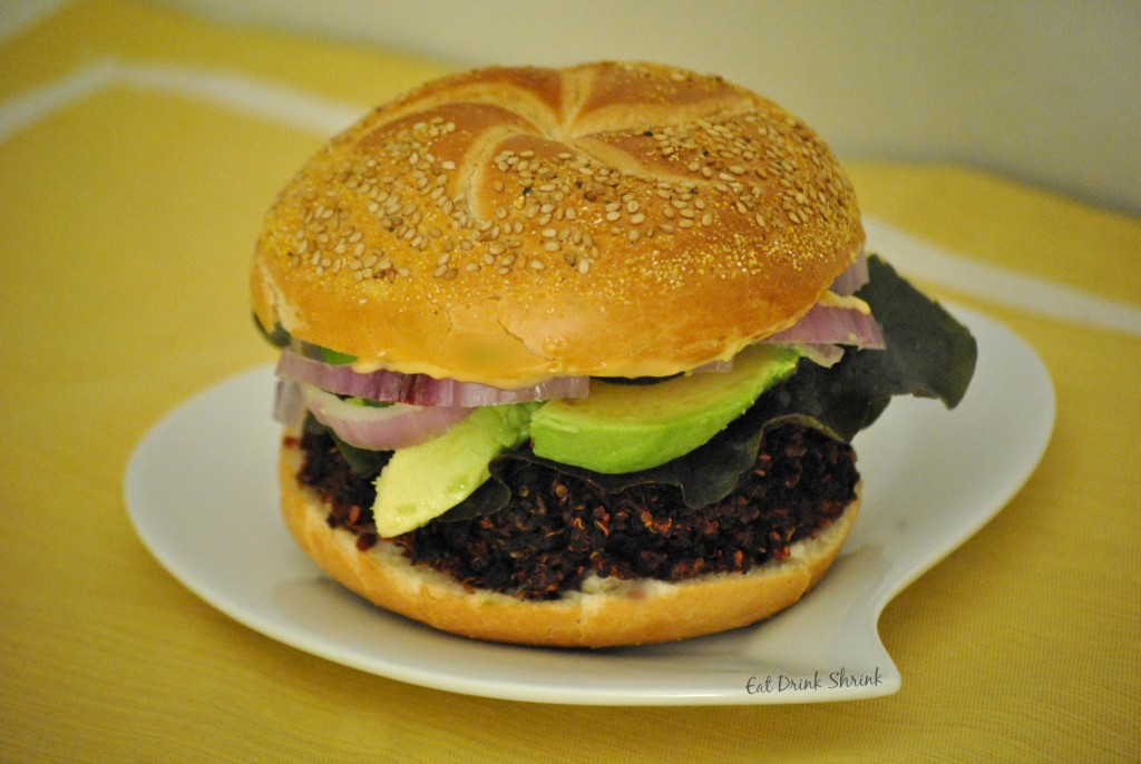 Beet Burger with Chao Cheese