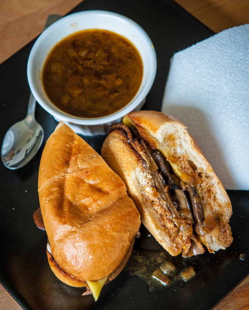 French Dip with French Onion Au Jus