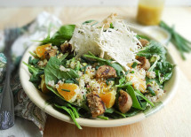 Cheese crisp salad - cropped