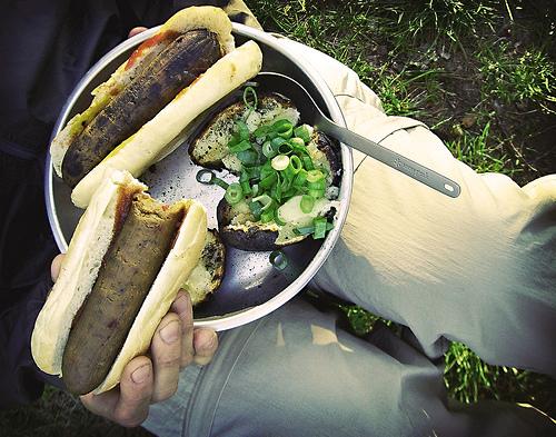 Camping sausage 07