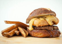 Cheesy Beer Burger - cropped