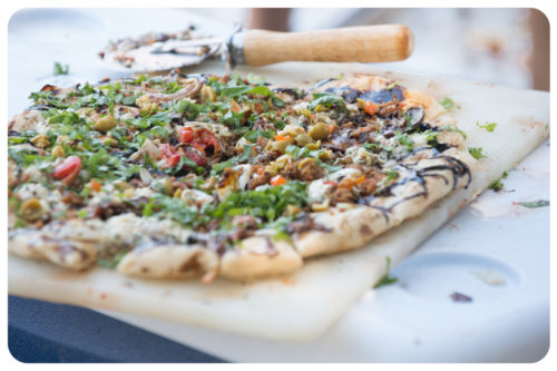 Image for Grilled Pizza with Italian Sausage, Peppers & Chao Cheese