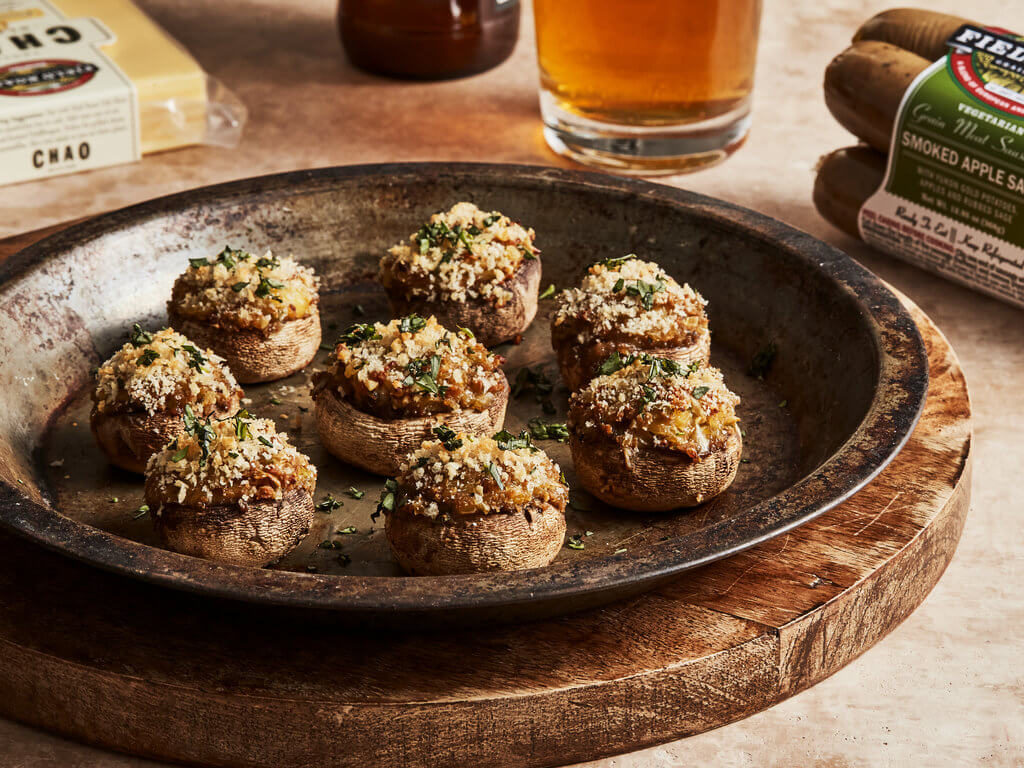 Cheesy Sausage Stuffed Mushrooms