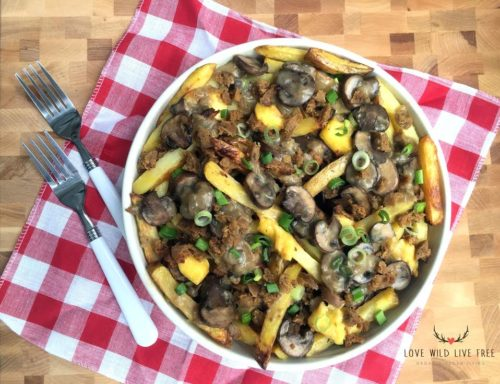 Image for Epic Vegan Poutine with Smoked Apple Sage Sausage and Creamy Original Chao