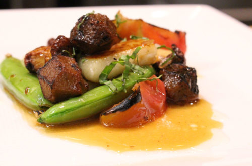Image for Vegan Gnocchi with Roasted Vegetables and Field Roast Wild Mushroom Meatballs