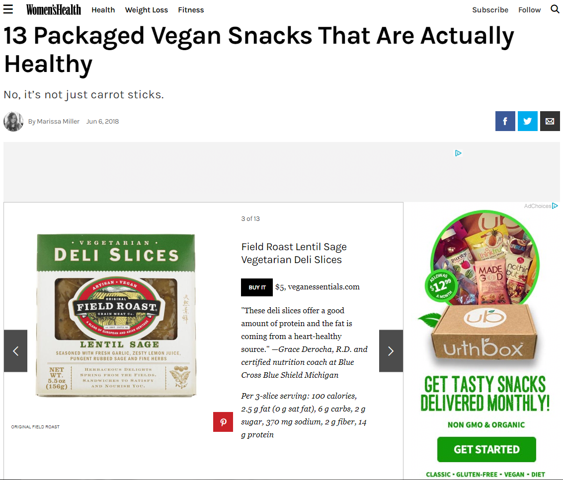 Image for 13 Packaged Vegan Snacks That Are Actually Healthy