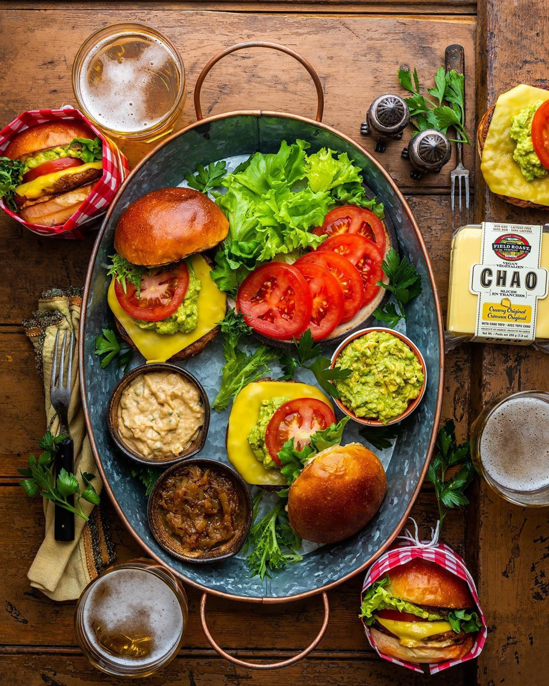Southwest-Style Chao Cheeseburgers